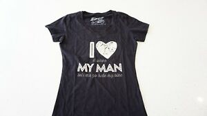 New DHD Wear Women/'s T-Shirt I Love My Man Black Cycling T Shirt