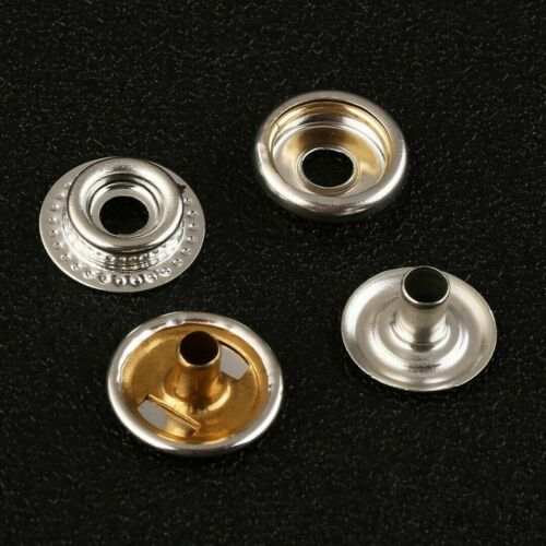 100x Stainless Steel Fastener Snap Press Stud Cap Button Marine Boat Canvas Set