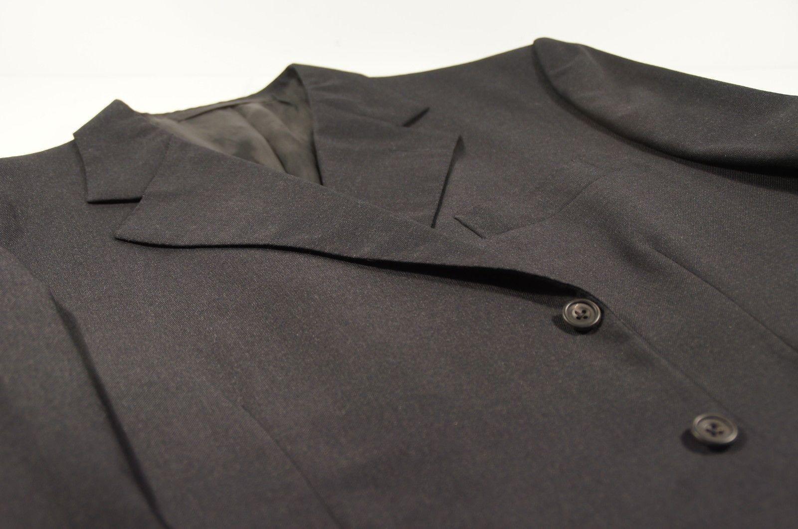 Savile Row Bespoke Dege & Sons Dark Charcoal grau Suit Coat EU 56 L / USA 46 L