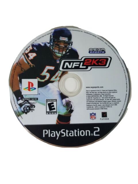 Sega Sports NFL 2K3 PS2 Sony PlayStation 2 Video Game Disc Only Rated E