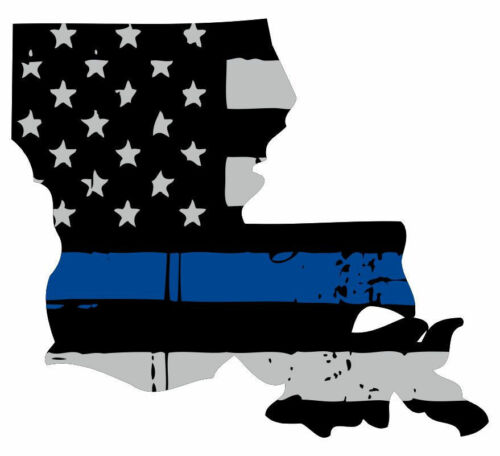 Various Sizes State Of Louisiana Window Decal Thin Blue Line Decal