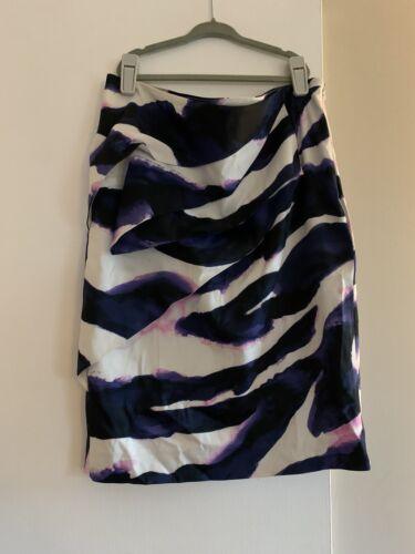 Karen Millen Hand Painted Water Color Pencil Skirt