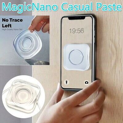 Nano Magic Sticker Phone Holder PU Material Nano Magic Sticker Phone Holder Nano Casual Paste Black, Square