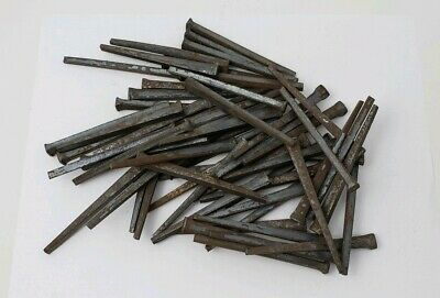 100 Antique 1 1//4 inch straight but rusty. square cut nails hand made unused