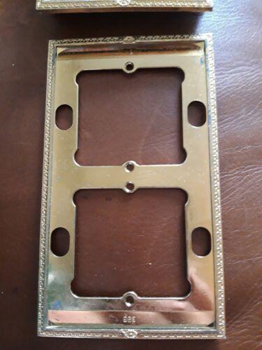 Plaque double chambord Louis XV Legrand  couleur bronze Neuve de stock