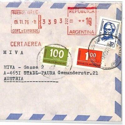 Latin America Cf253 1976 Argentina *asuncion* Franciscan Missionary Air Cover Miva Austria To Adopt Advanced Technology Postal History