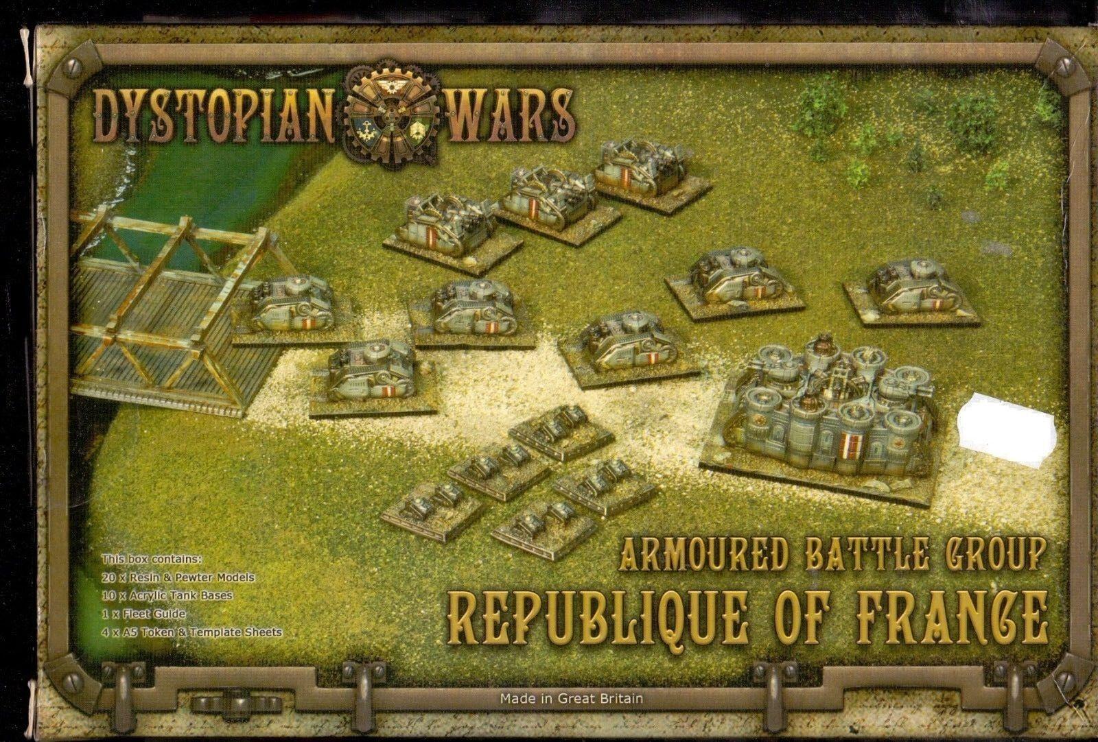 SPARTAN GAMES DYSTOPIAN WARS ARMOUrot BATTLE GROUP REPUBLIQUE OF FRANCE BOX