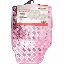 4pc Coche Mat Set Rosa Tapetes Pesado Deber Universal espalda Antideslizante Nuevo 81117C