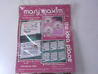 Rare Mary Maxim Needlework deck The Hall Scroll 14 Count Nip