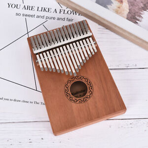 17Hochwertige-Key-Kalimba-Single-Board-Mahagoni-Thumb-Piano-Instrument-Gesc-sf