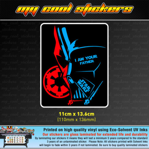 4X4 Car Truck laptop Star Wars Darth Vader I Am Your Father Vinyl Sticker Decal