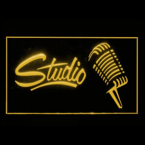 140047 Studio Recording Open On Air Headphone Live Display LED Light Sign