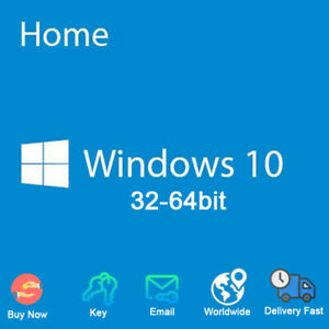 Windows 10 Home for PC License Key Code 32 / 64 bit ...