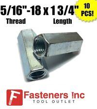 Qty 10 516 18 X W12 X L 1 34 Coarse Grade A Hex Rod Coupling Nut Zinc