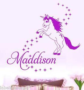 Image Is Loading LARGE Unicorn Pegasus Horse Wall Sticker Any Custom