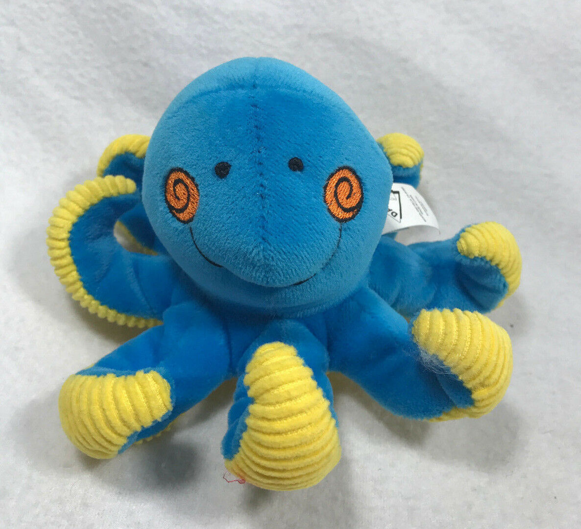 Dakin Octopus Plush Blau Gelb Baby Rattle Stuffed Animal Lovey Applause 5