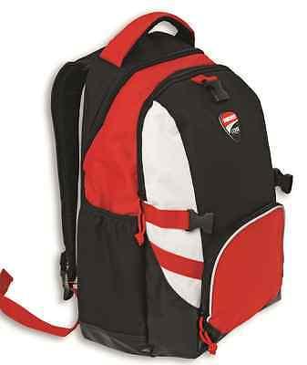 Ducati Corse 15 Rucksack schwarz weiß rot abnehmbare Helmtasche back bag