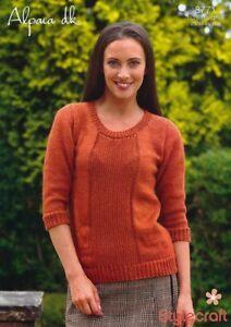 04c0ab31f Image is loading Stylecraft-Knitting-Pattern-8771-Ladies-Moss-Stitch-Sweater -