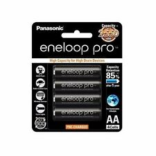 4x Panasonic Eneloop Pro 2450mAh AA High Capacity Rechargeable Batteries New DF