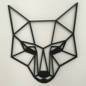 Details About Geometric Fox Head Wall Art Hanging Decoration Origami Style Pick Your Colour
