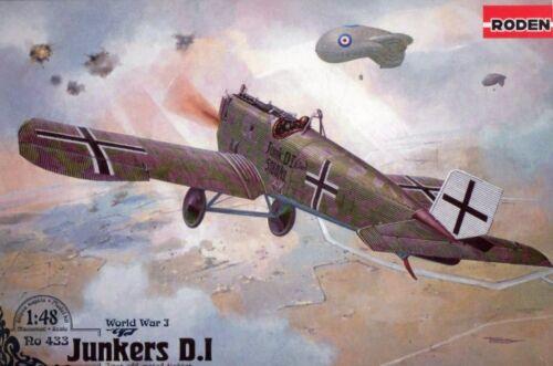Kaiserliche Luftwaffe MKGS #433 1//48 Roden Junkers J I-WW I All-Metal Fighter