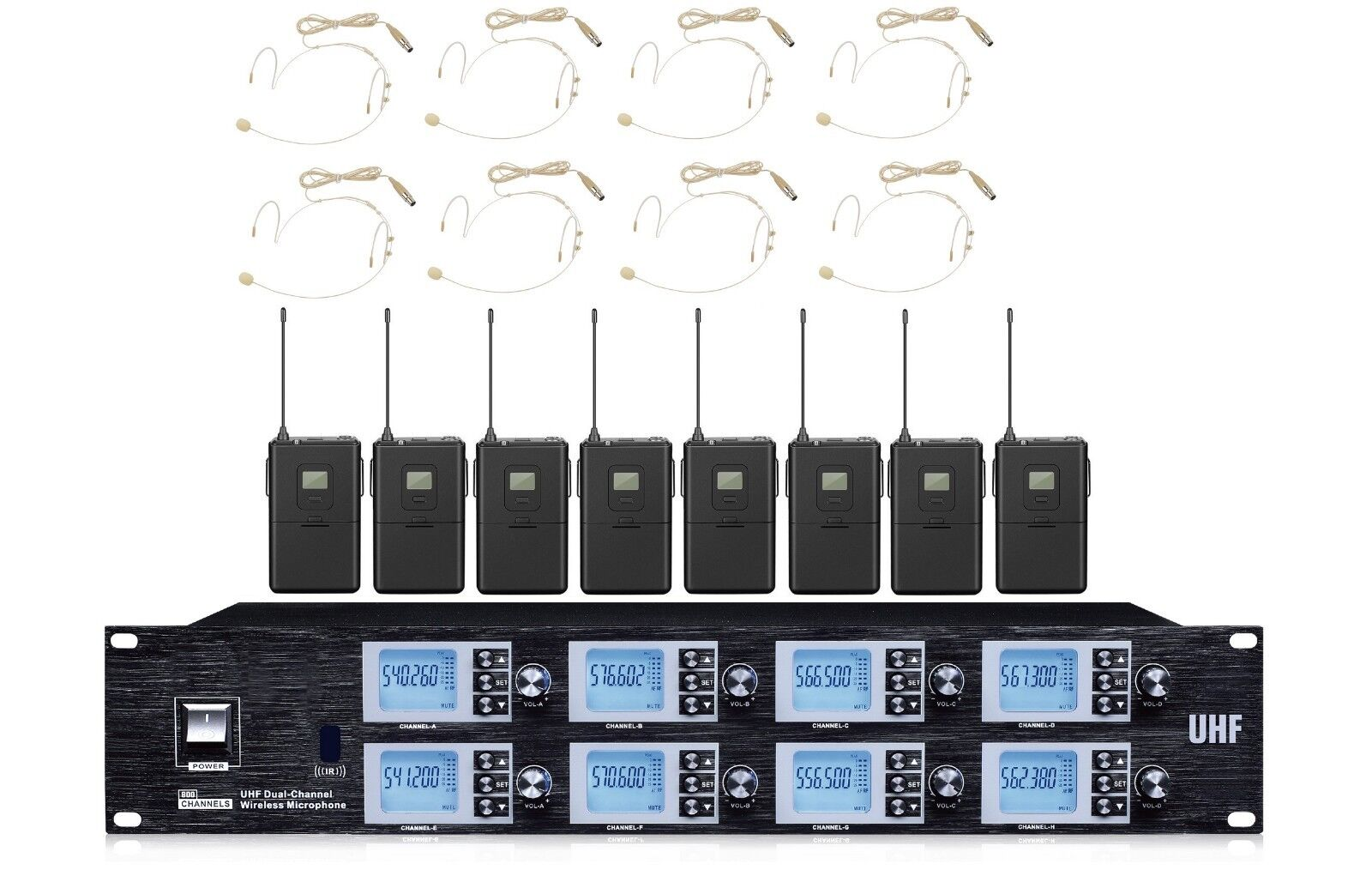 8 Channels Headset Microphone System Professional Stage Microphone For AKG Mics
