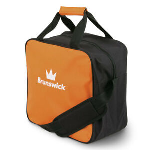 Bowlingball-Tasche-Brunswick-TZone-Single-Tote-orange-Platz-fuer-Bowlingschuhe