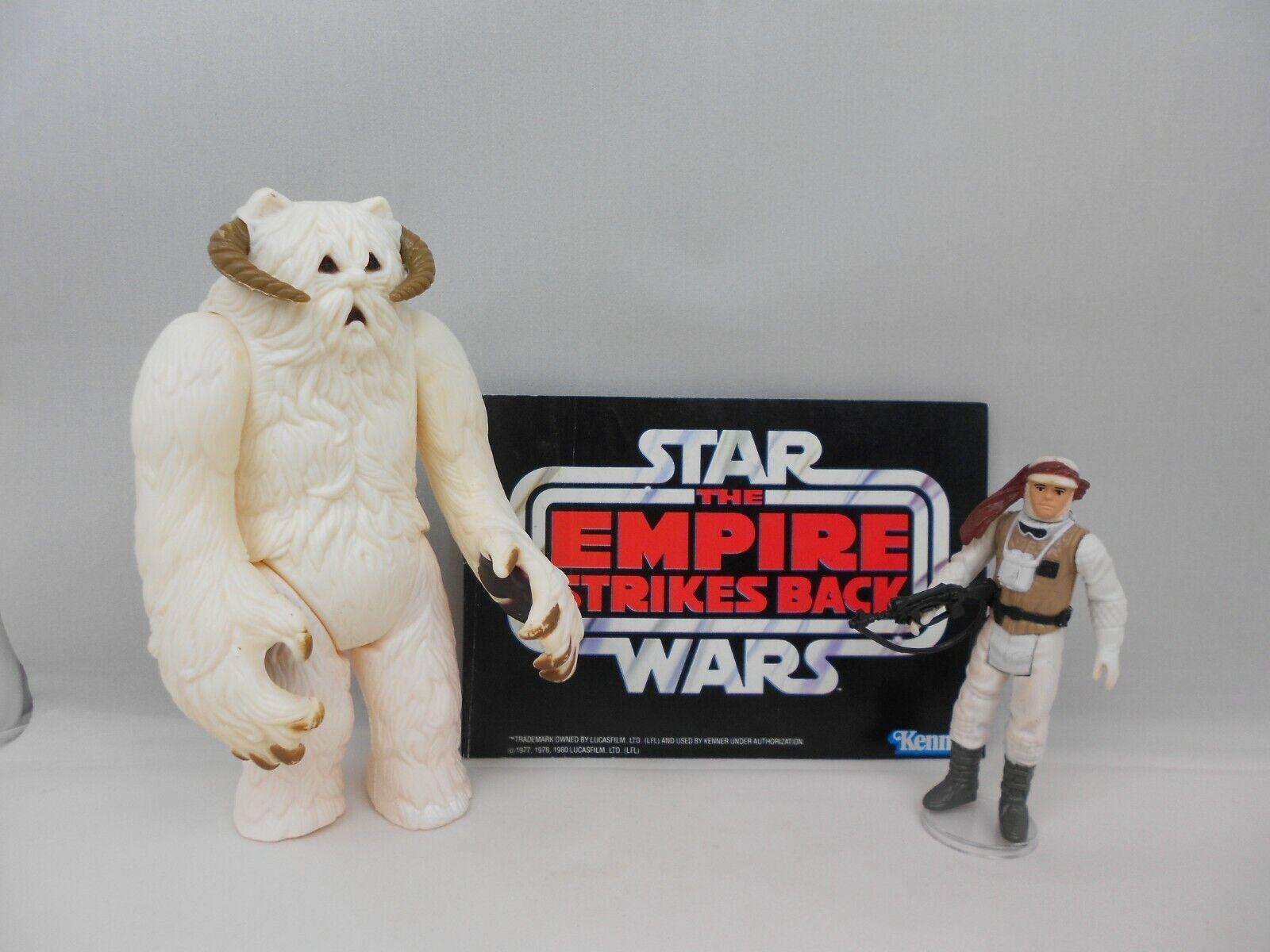 Vintage Star Wars ESB 1981 Hoth Wampa & Luke  Hoth    N Mint  Vintage Complete -