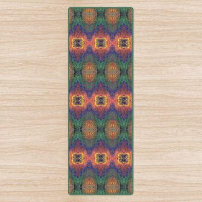 Heart Chakra Om Yoga Mat High Quality Uk Designer Brand Non Slip Rubber Base Ebay