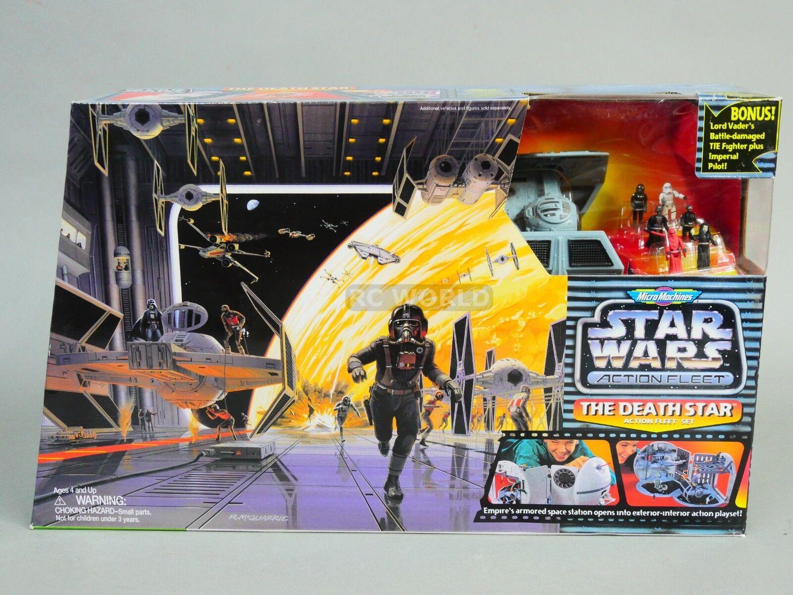 Vintage Star Wars Playset DEATH STAR Tie Hangar Action Fleet Set -NEW-  oat