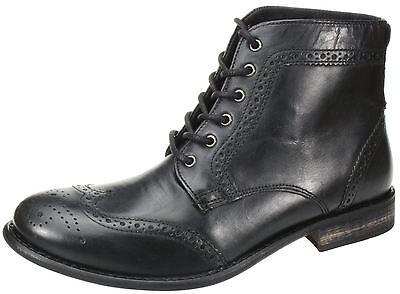 La burocracia Nant negro encaje arriba Chelsea, Botines Zapato Bajo De Cuero Para Hombre De Cuero