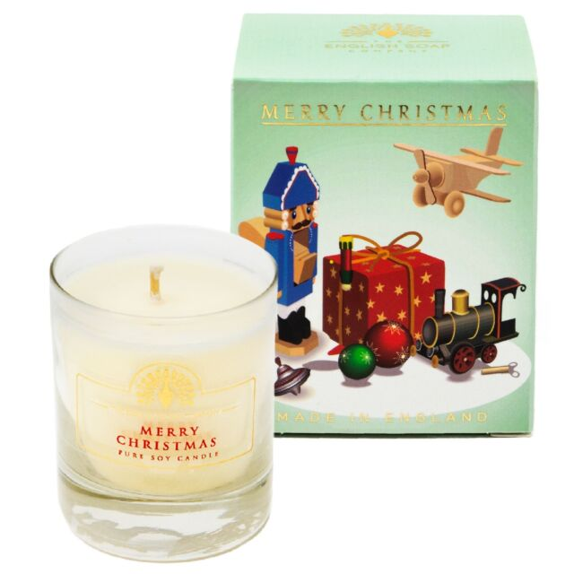 English Soap Company Soy Candle Scented Votive Vintage Toys Christmas Gift Box