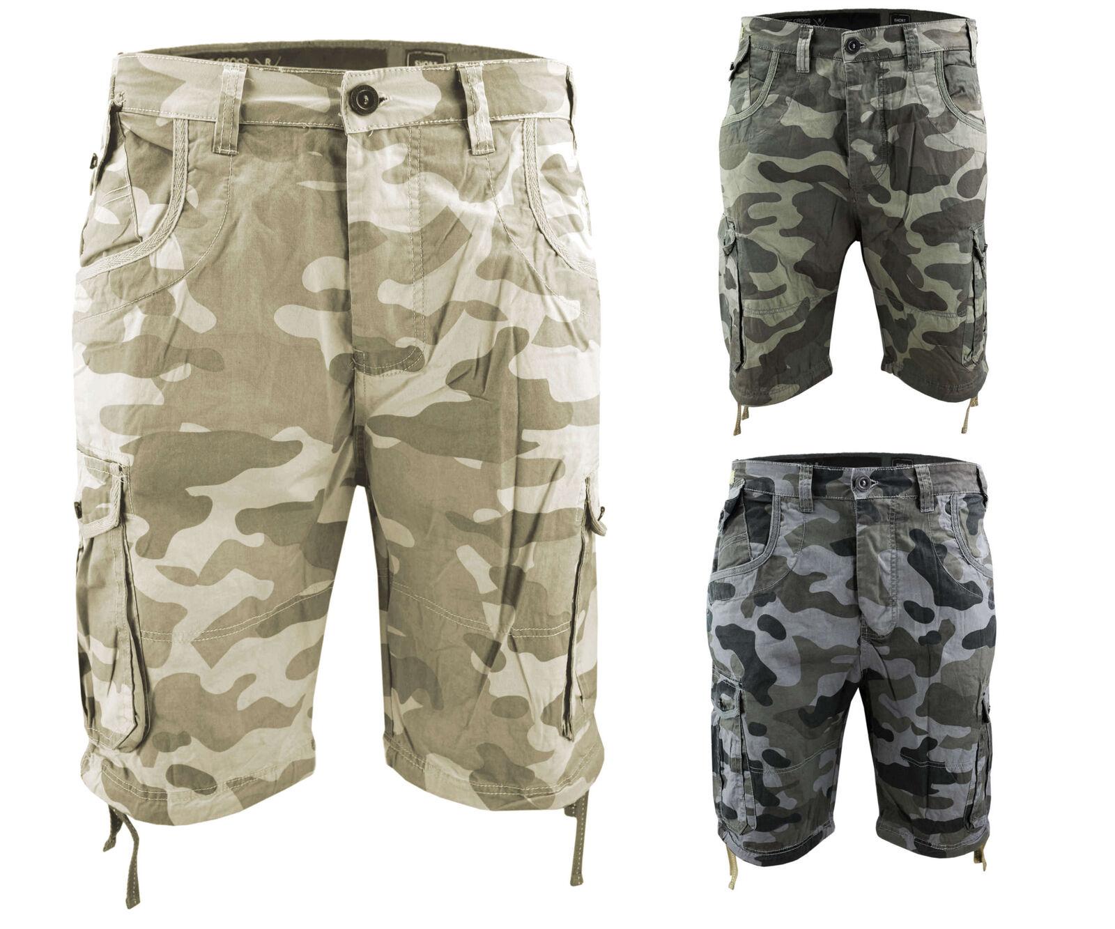 Crosshatch da uomo pantaloncini ryehill MIMETICI COMBATTIMENTO Pantaloni corti