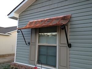 Image is loading 6-ft-curved-copper-window-or-door-awning- : coopers door canopy - memphite.com
