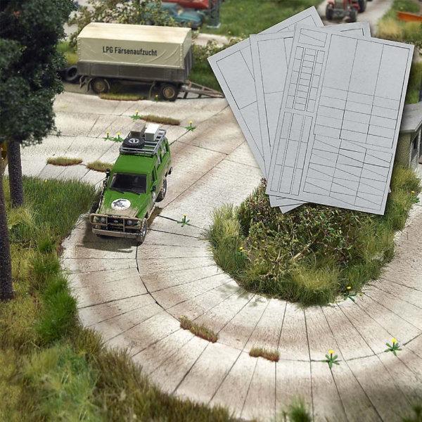 Busch Concrete Slab Pavement 1106 HO Scale