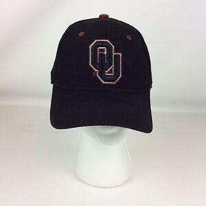 OU Oklahoma Sooners Hat Cap Size 7-1 8 Black Embroidered Baseball ... 4b1cada65a9