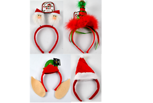 Christmas Headband Png.Details About 4 Piece Novelty Christmas Headband Santa Hats Office Party Dress Accessories Set