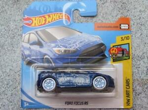Hot Wheels 2018 Art Cars  Ford Focus RS blau