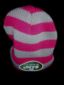 9d179bc9 Details about New Era Womens NY Jets Insulated Beanie Cap Pink Gray Breast  Cancer Awareness