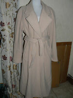 Ladies Fawn Coloured Coat  Size 16 by Carlton wool and cashmere blend
