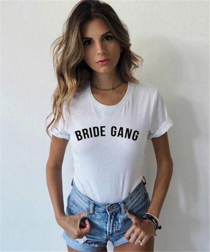 Bride Gang T-Shirt Bride Tribe Tee Girl Gang Tumblr Shirt Tops Women/'s S XXXL