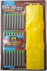 Air Warriors Ultra-Tek Refill Pack - 24 Darts and 1 Clip