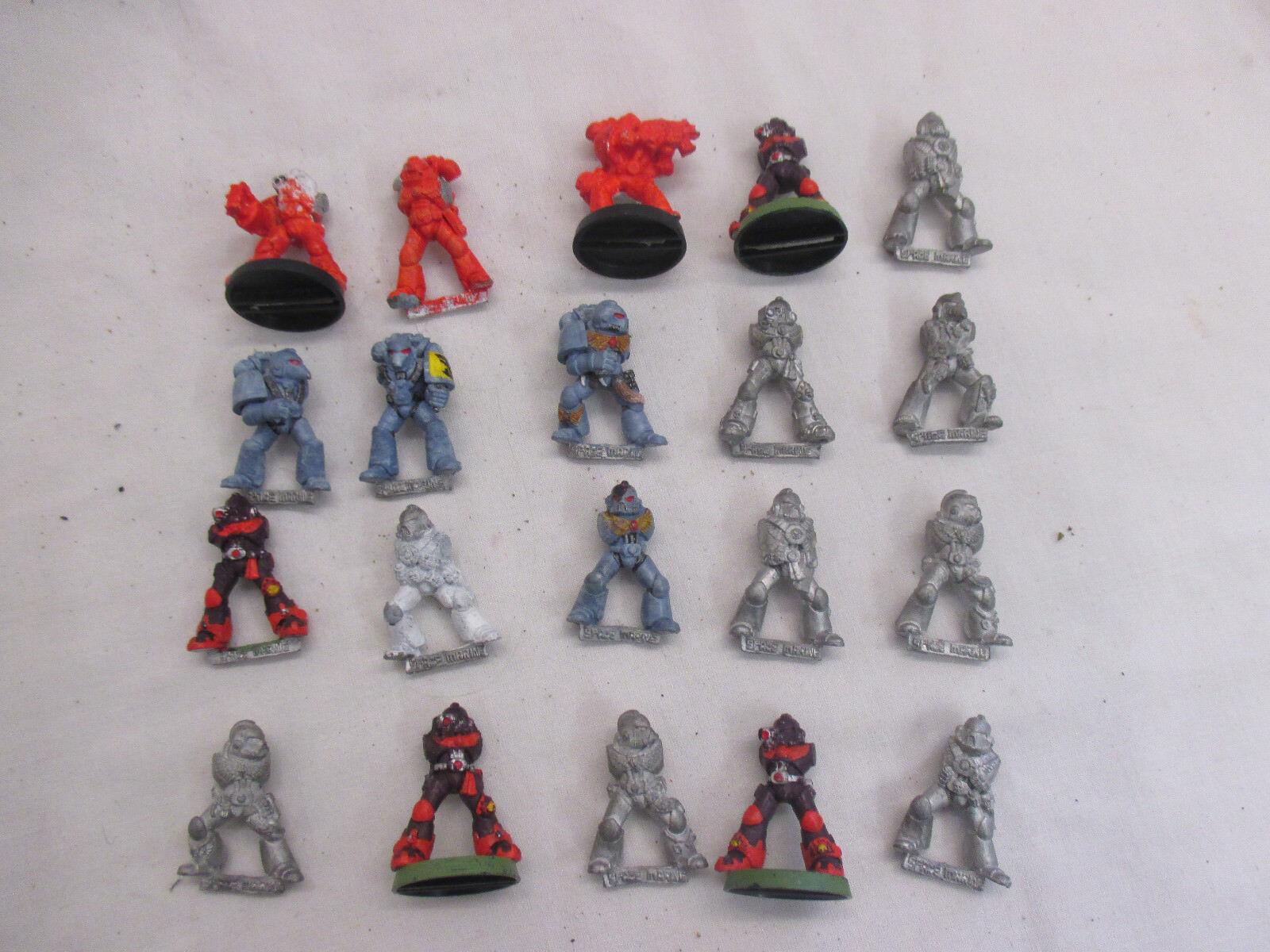20 x Warhammer 40k red Trader Space Marine Metal - Part & Unpainted