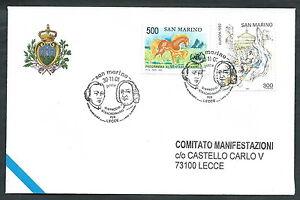Intelligent 2001 San Marino Dispaccio Straordinario Lecce Timbro Arrivo - Rsm2001