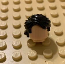 NEW Lego City Minifig Boy Short Dark ORANGE HAIR Light Brown Male Police Agents