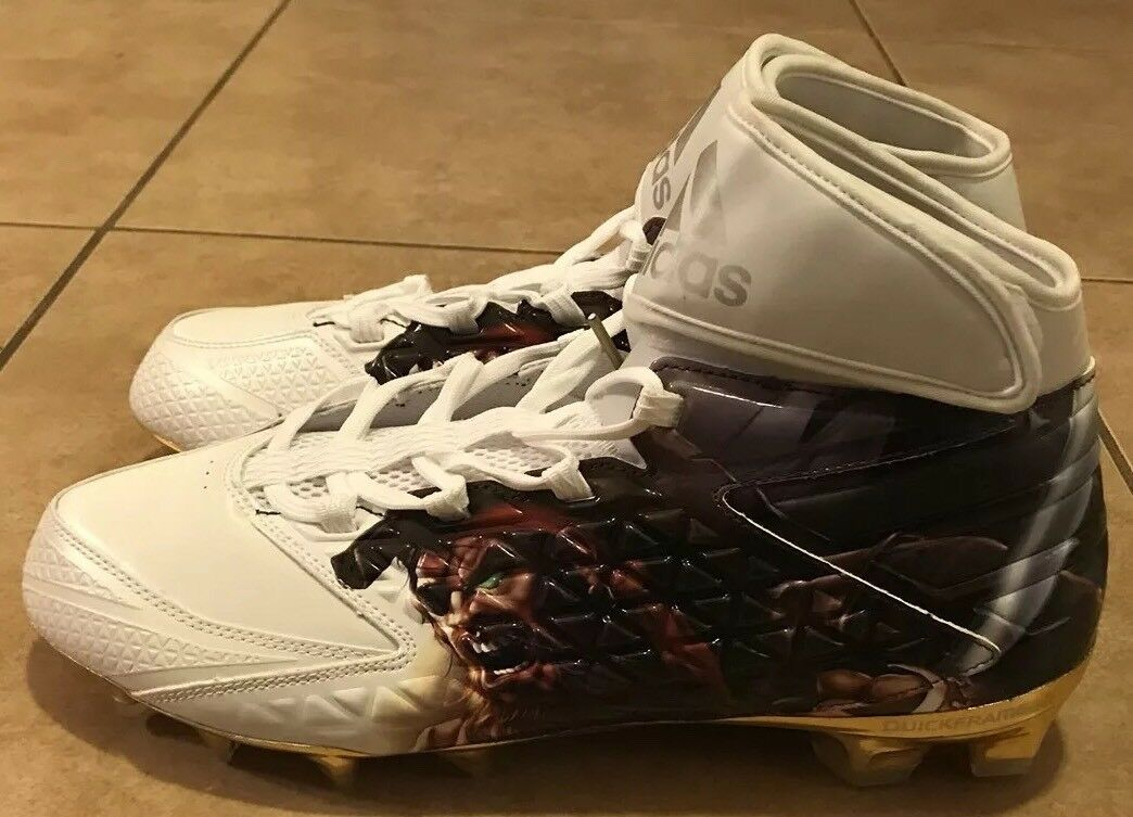Adidas Freak X Carbon High Uncaged Pirate Football Cleats gold Men's Size 12.5