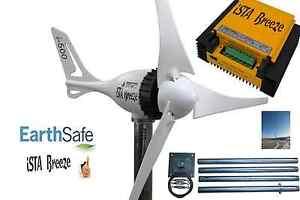 Set-Windgenerator-i-500-PLUS-12V-Laderegler-Tower-Ista-Breeze-Windkraft