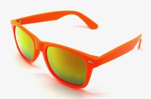 PT Gafas de Sol Hombre Mujer Sunglasses Espejo Tipo Wayfare Naranja