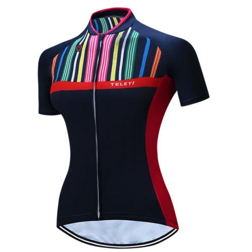Women Sports Cycling Jersey Bike Short Sleeve Clothing Bicycle Shirts XS-3XL