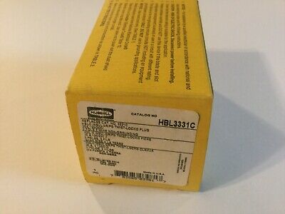 Hubbell HBL3331C Twist-Lock Plug  3 Pole 3W 30A 125//250V